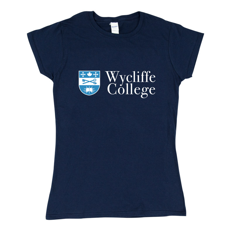 Blue Wycliffe College Women's T-Shirt