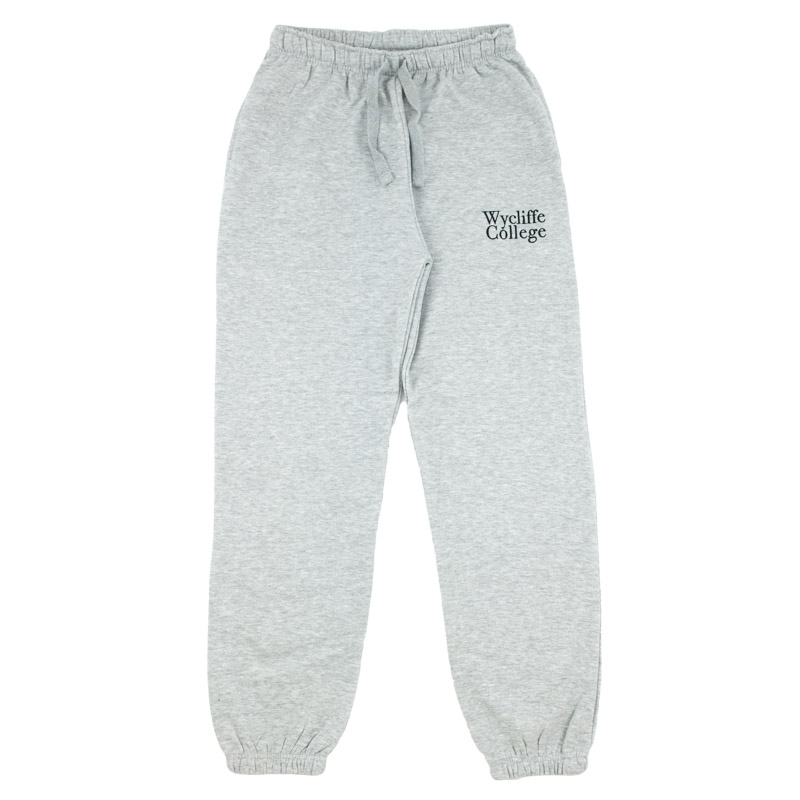 Grey Wycliffe College Sweatpants