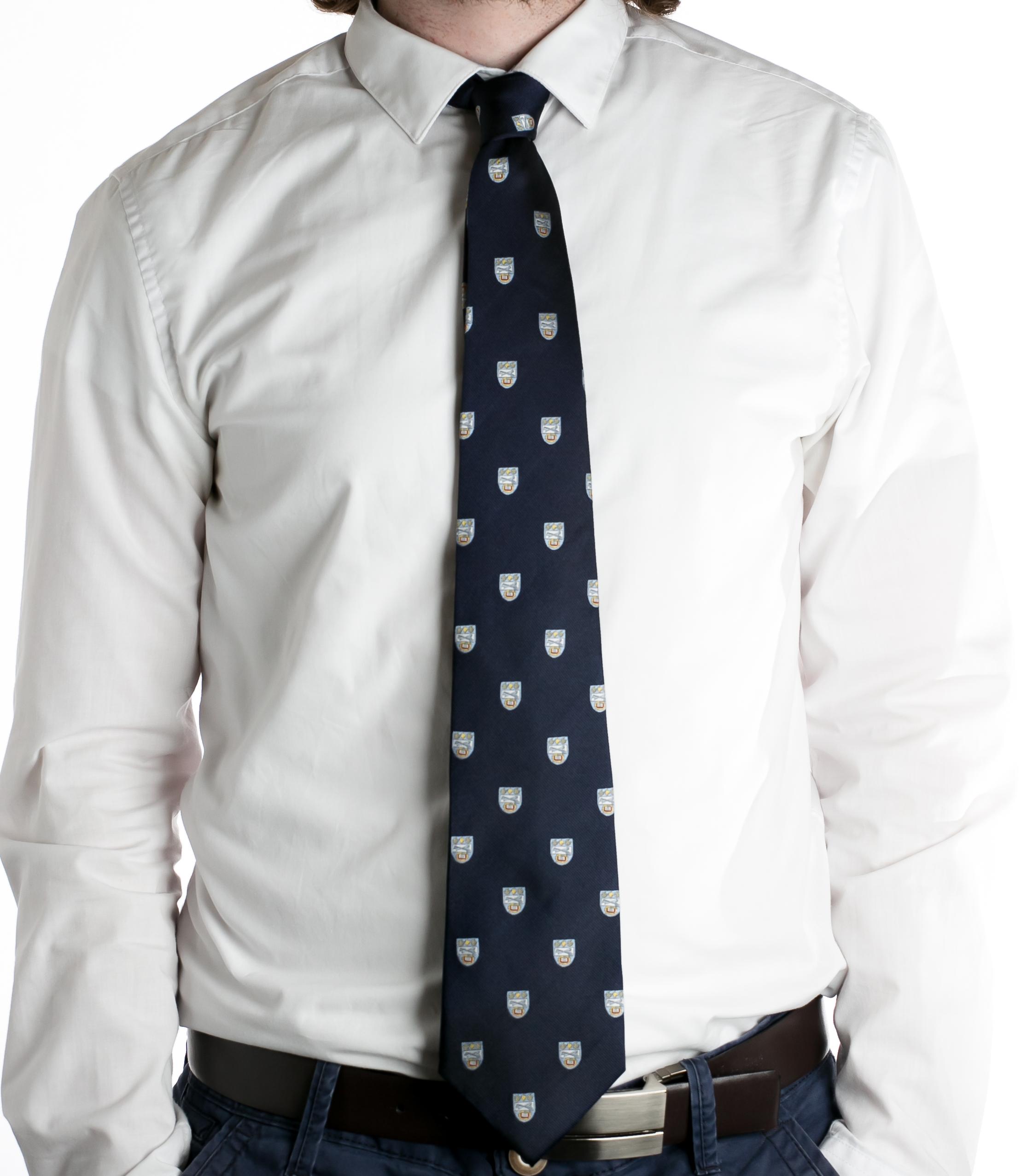 Wycliffe College Navy Tie