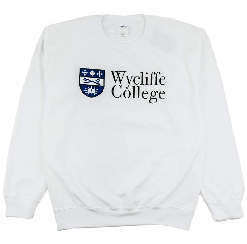 White Wycliffe College Crew neck