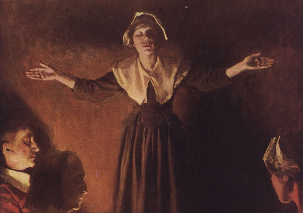 Mary Dyer preaching