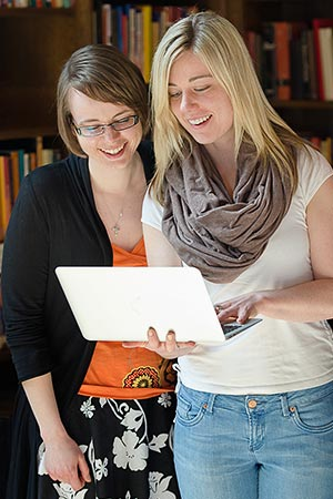 Students studying at Wycliffe College