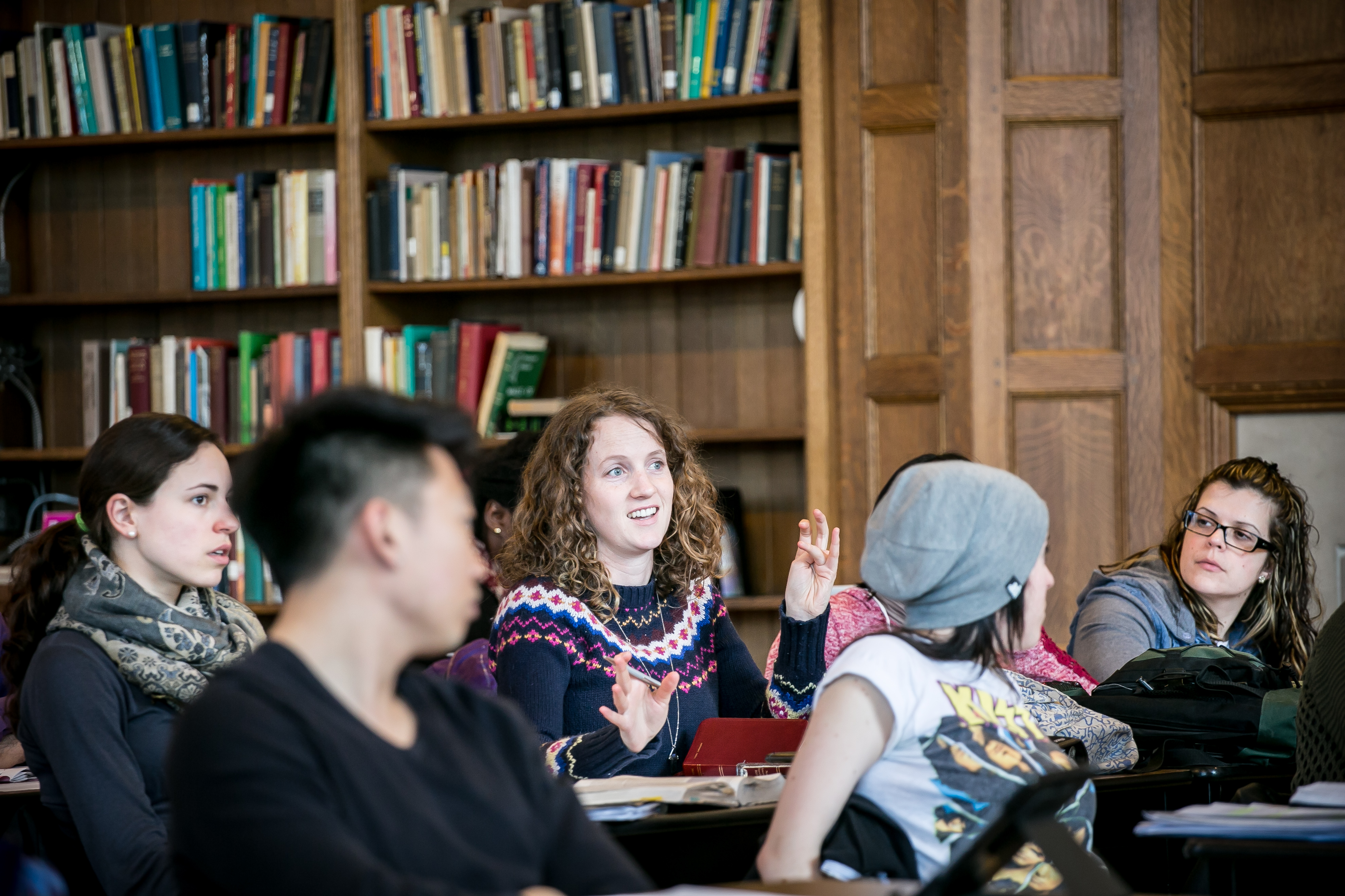 Students in class at Wycliffe College