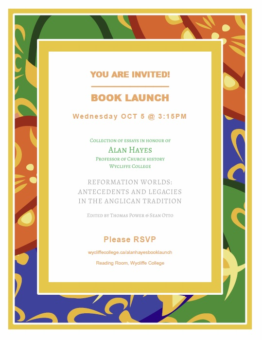 Book Launch - Collection of Essays in honour of Alan Hayes | Wycliffe ...