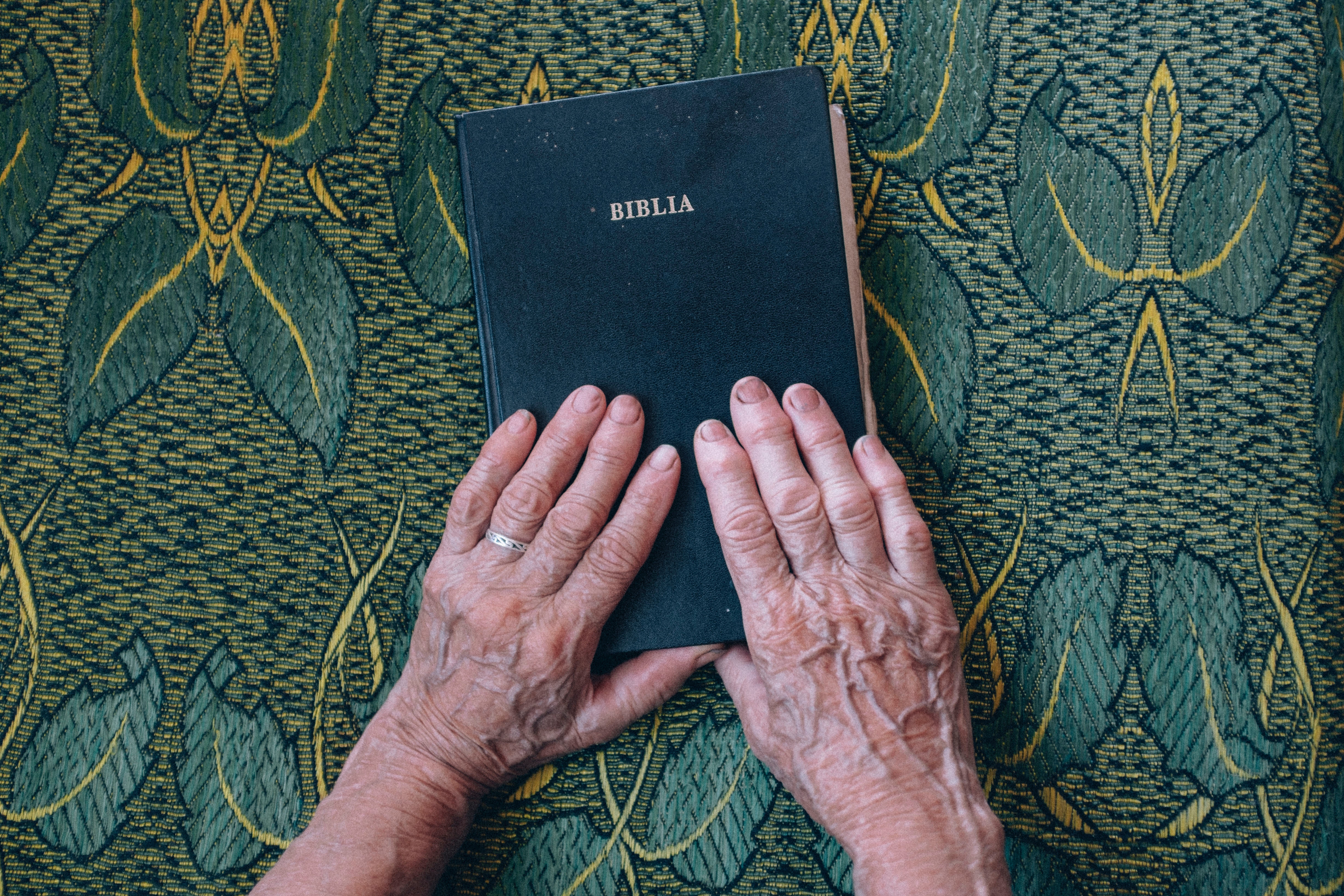 Wrinkled Hand holding the Bible - Photo by Raul Petri on Unsplash
