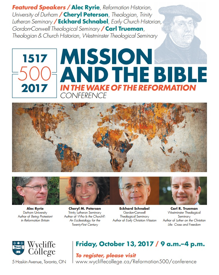 Reformation Conference - Wycliffe College