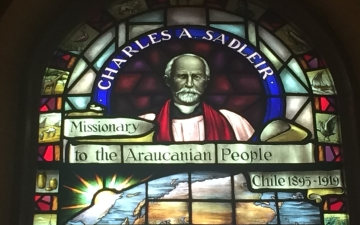 Charles Sadleir in stained glass
