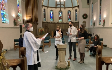 Baptism in the Founders' Chapel
