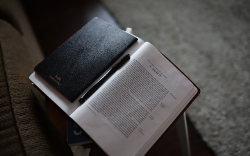 Bible by Caleb Woods unsplash