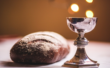 Bread and Chalice (photo credit: James Coleman, Unsplash)