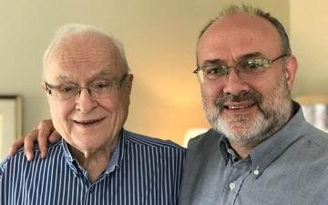 Dr Richard Longenecker is pictured with his son, Dr Bruce Longenecker.