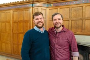 Dr David Robinson and Scott Leveille