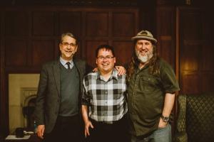 (left to right) Ephraim Radner, Steve Hewko, Bruxy Cavey