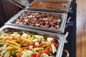Vegetables, potatoes, beef, vegetarian