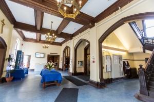 The lobby on the main floor