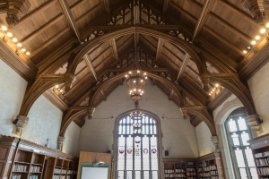 Leonard Hall and its beautiful ceiling