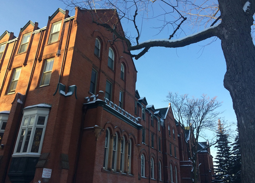 Wycliffe College exterior in Winter